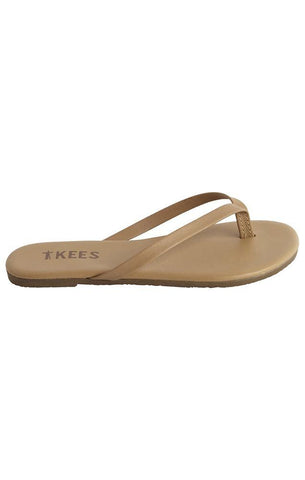 TKEES FLIP FLOPS LEATHER TAN SUMMER SANDALS