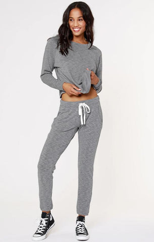 CROPPED RAGLAN BOBI LA GREY MATCHING SETS ON SALE TOPS AND BOTTOMS