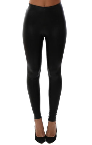 COMMANDO LEGGINGS HIGH WAISTED VEGAN LEATHER BLACK SKINNY CHIC SEAMLESS LEGGING