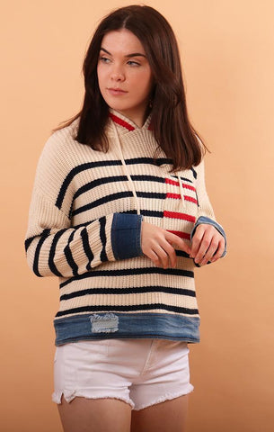 BILLIE HOODIE SWEATERS KNITS STRIPED