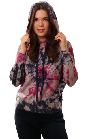 CENTRAL PARK WEST HOODIES TIE DYE KNIT BLUE PINK GREY PULLOVER SWEATER