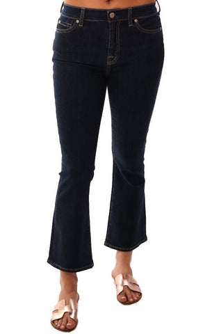 HIGH WAIST SLIM KICK IN FATE RINSED 7 FOR ALL MANKIND SALE DENIM JEANS