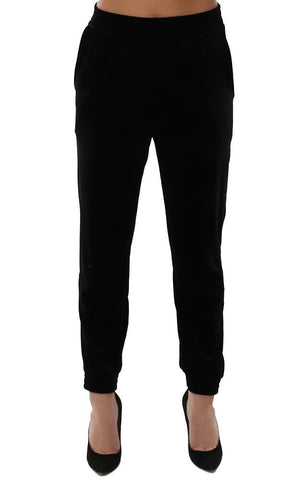 VERONICA M PANTS VELVET JOGGER ANKLE SOFT CHIC BLACK PANT