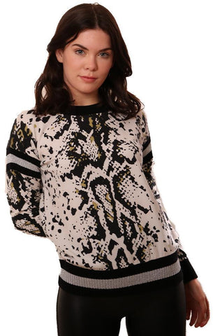 CENTRAL PARK WEST SWEATERS LONG SLEEVE CREW NECK PRINTED PULLOVER