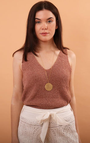 GEORGIA SWEATER TANK TOPS MAUVE