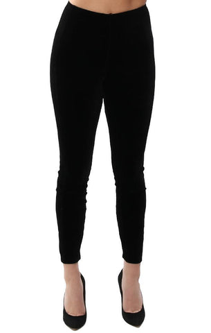 LYSSÉ LEGGINGS BLACK VELVET HIGH WAIST SKINNY CHIC COMFY LEGGING