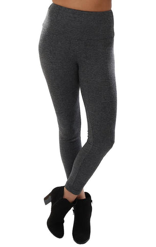 Lysse Leggings High Waist Stretchy Grey Plaid Skinny Ankle Fitted Soft Comfy Legging Pant