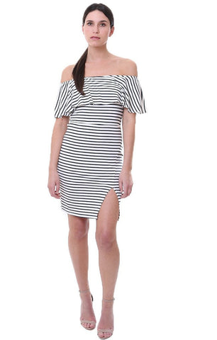 ff11036a3afb4 Classic black and white stripes always bring to mind effortless Parisian  style and the ease of wearing this simple print. Combined with an off the  shoulder ...