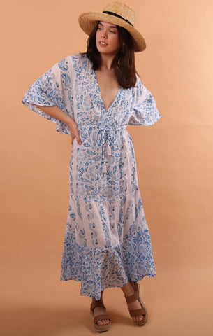 SAVANNAH CAFTAN COOL CHANGE BEACH COVERUP SUMMER SALE AT MINT