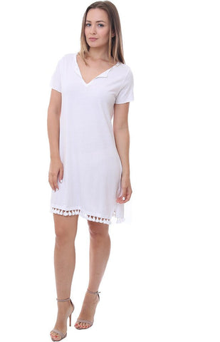746c02c90b4f This Michael Stars shift dress is a no brainer with it s loose breezy fit  and beachy fringe hem.