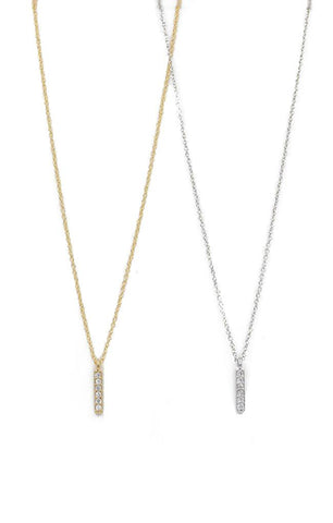 NECKLACES GOLD SILVER VERTICAL BAR JEWELRY
