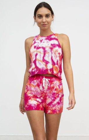 THALIA TANK CENTRAL PARK WEST TIE DYE PINK SPRING TANK TOPS