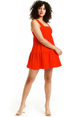 MITZI MINI AMANDA UPRICHARD BABY DOLL MINI RED DRESS SUMMER SALE
