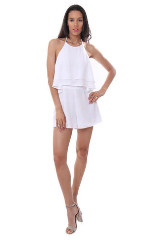 Do & Be dresses ;ayered ruffle white jumper