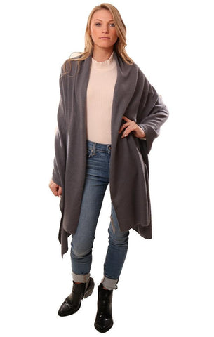 IN CASHMERE SHAWLS LONG LIGHT GREY SOFT WRAP SCARF