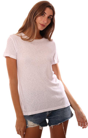 MICHAEL STARS TOPS SHORT SLEEVE CREW NECK WHITE CASUAL TEE