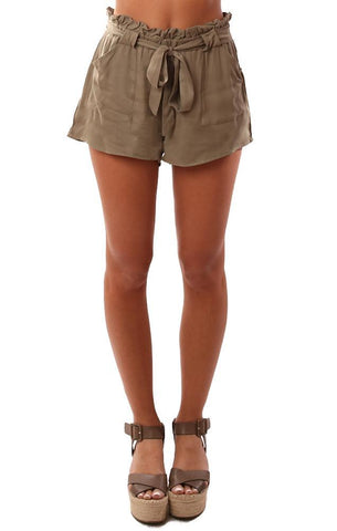JACK BY BB DAKOTA SHORTS HIGH WAISTED TIE WAIST GREEN LIGHTWEIGHT SHORT