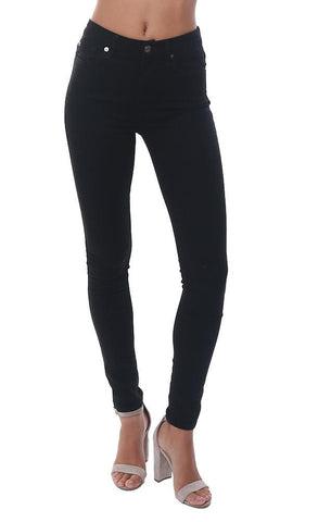 7 FOR ALL MANKIND DENIM HIGH WAIST SKINNY BLACK JEANS