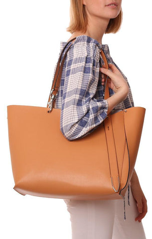 Rebecca Minkoff Leather Asymmetrical Tan Large Tote bag