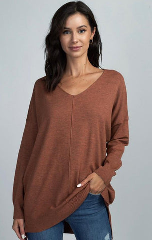V NECK TUNIC SWEATER DREAMERS CASUAL WINTER TOPS