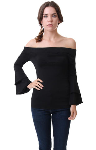 Veronica M Off The Shoulder Bell Sleeve Tops
