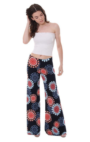 Veronica M printed wide leg pant summer style soft and comfy flared pant