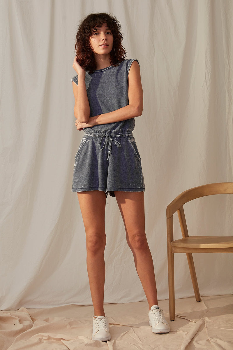 short sleeve Terry romper