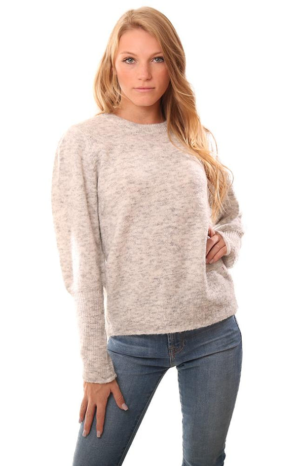 RD Style Sweaters Long Sleeve Grey Pullover Knit Sweater
