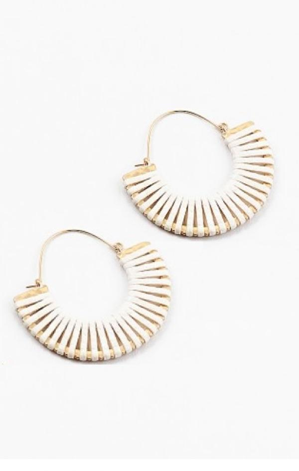 summer trendy womens earrings Ivory