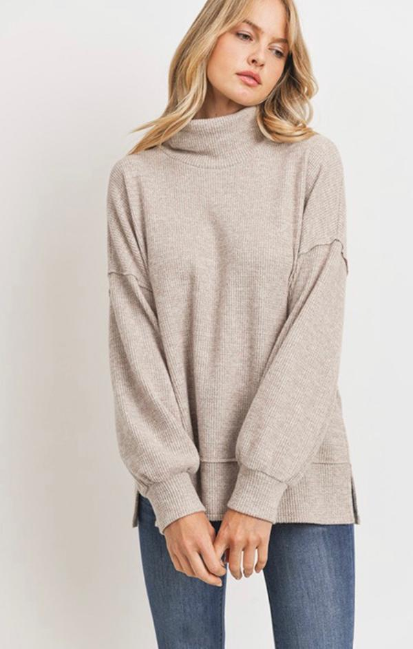 cozy turtleneck pullover top