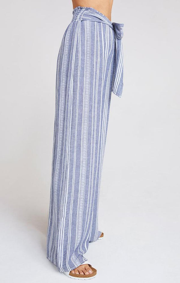 blue stripe summer pant