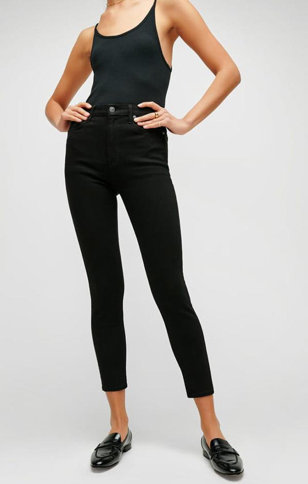 skinny black denim jeans for fall and winter