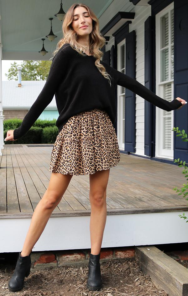 black knit sweater for fall