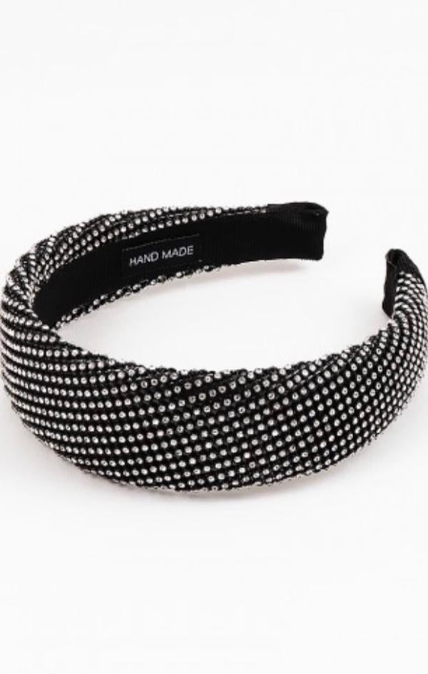 black studded chic headband