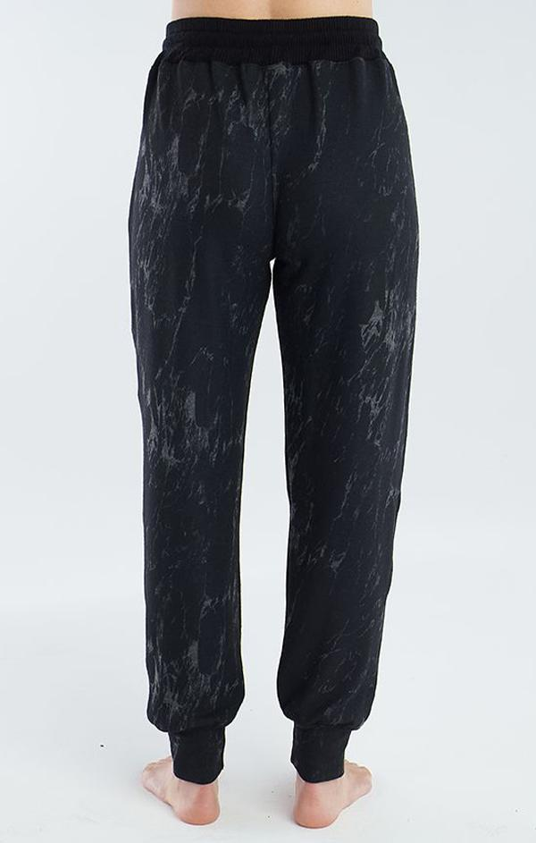 black marbled jogger lounge pants