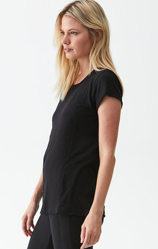 relaxed fit Michael Stars black short sleeve top