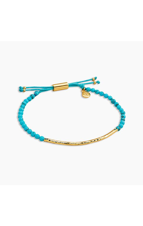 turquoise beaded gold bracelet