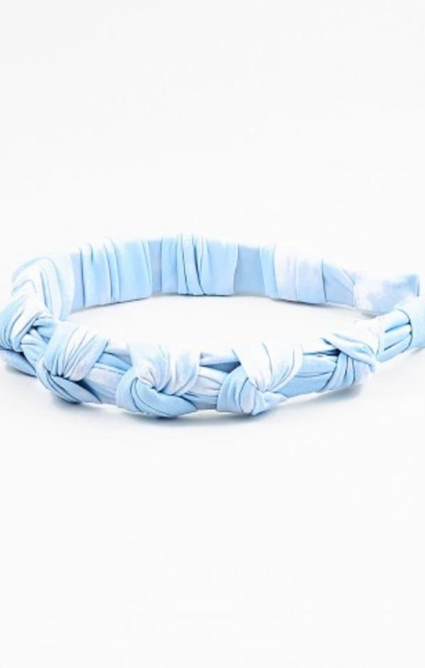 pastel blue tie dye knot headband summer headband  accessories