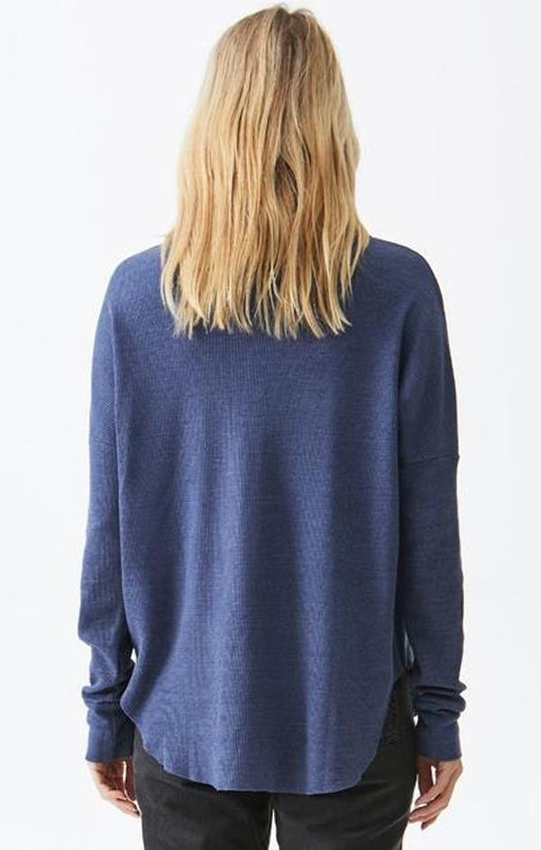 cowl neck long sleeve pullover top
