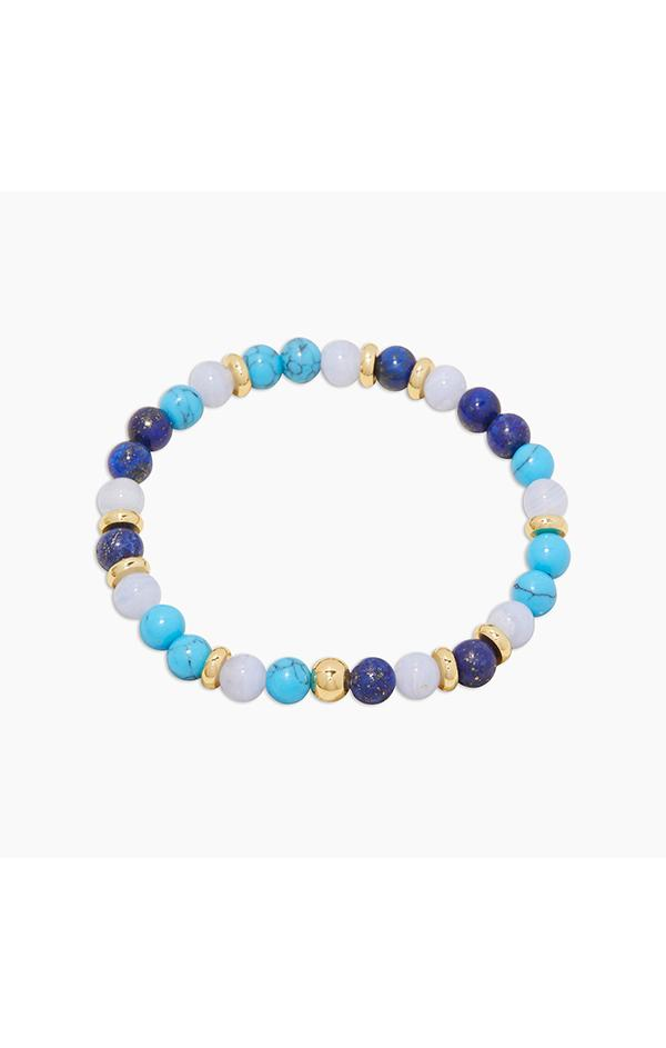blue lapis gemstone everyday bracelet by gorjana