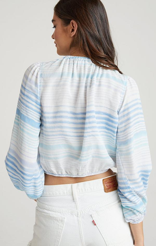 Bella Dahl blue striped top