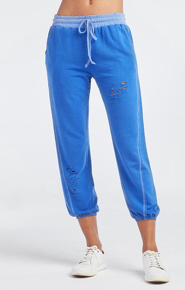 womens red haute Electric Blue Jogger