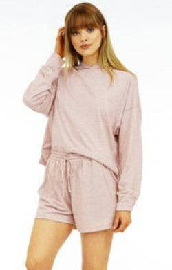 long sleeve cozy hoodie lounge wear for spring
