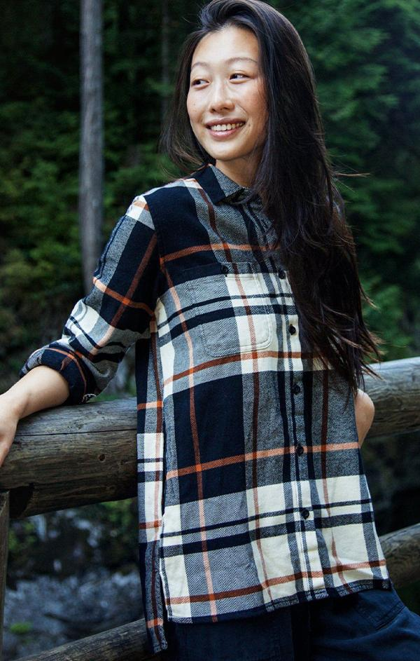 classic flannel plaid top