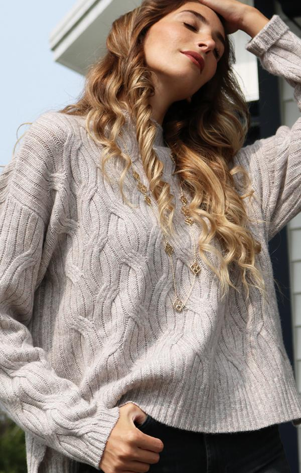 long sleeve cable knit