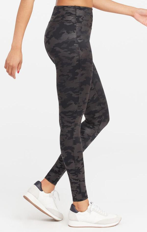 Spanx camo printed black legging