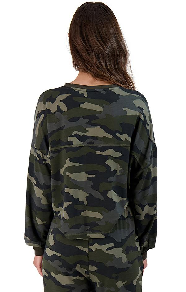 camo printed army green sweatshirt
