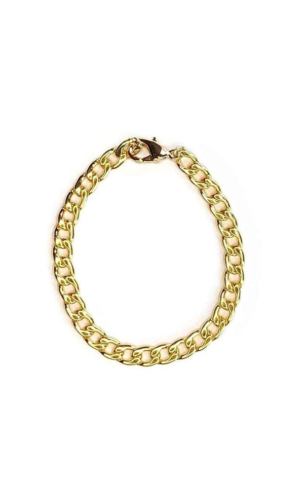 gold plated chain bracelet