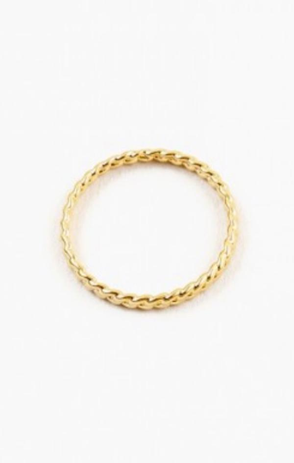 gold chain link ring dainty women's spring jewelry