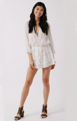 white lace love shack fancy romper